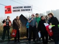Kysučania spustili blokádou petíciu za dokončenie diaľnice